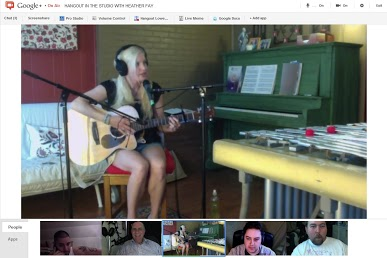 Broadcasting LIVE from the Recording Studio via Google+ Hangout On-Air...