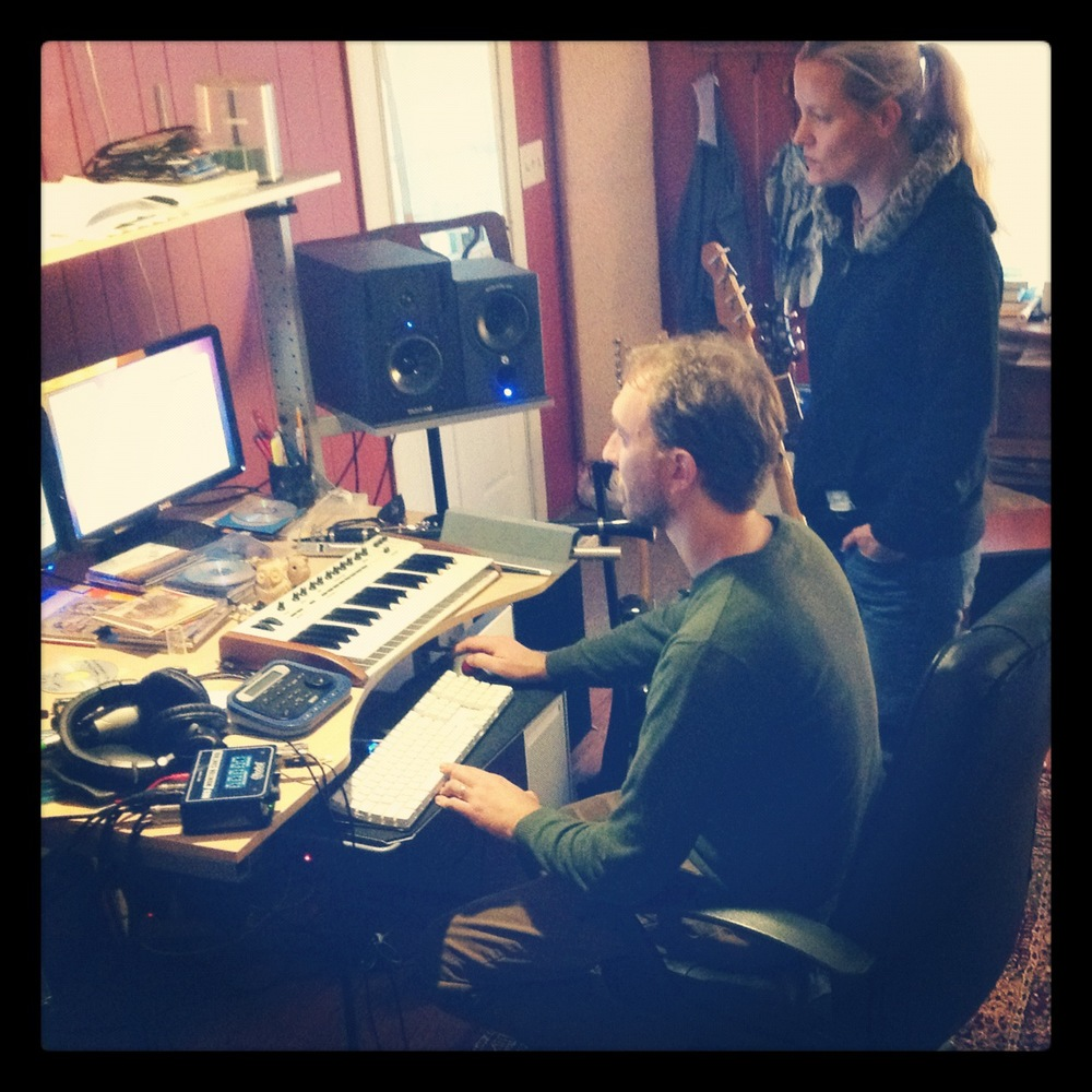 Heather with Producer Chris Reba