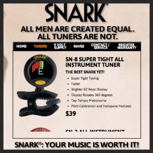 4. SNARK GUITAR TUNER