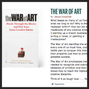 5. THE WAR OF ART BY STEVEN PRESSFIELD