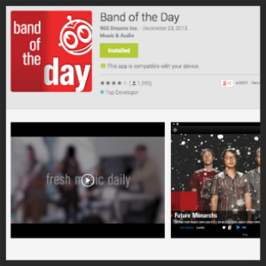 4. BAND OF THE DAY APP