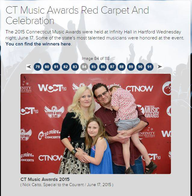 The Red Carpet with my adorable (and sleepy entourage).