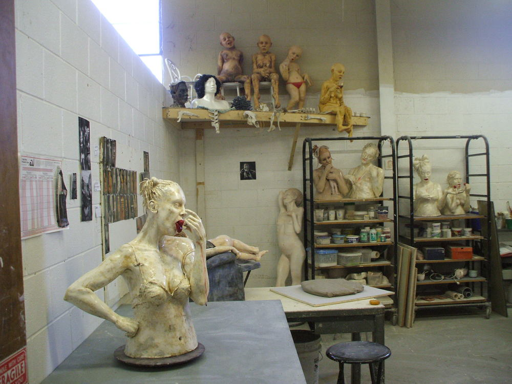 studio at IU during grad school