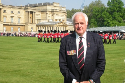 Dr. Cleland attending a Buckingham Palace Garden Party for servicemen and service women