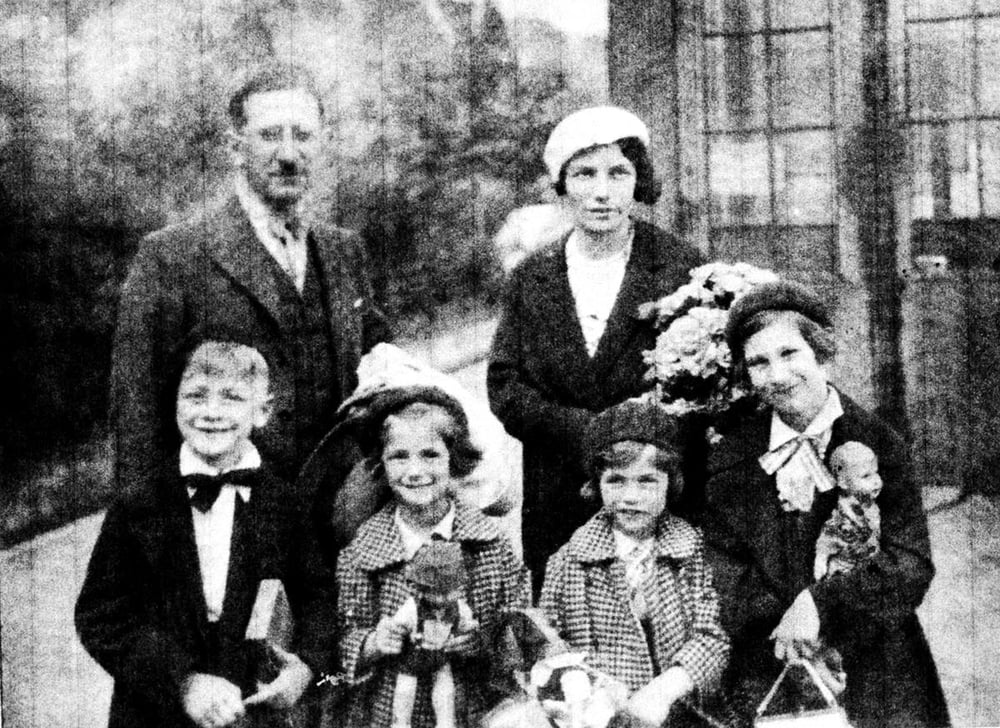 Susi Weissrock's brother, sisters and parents, before they left Berlin in 1933.  Little did they realize when this photograph was taken that most of the family would perish in death camps.