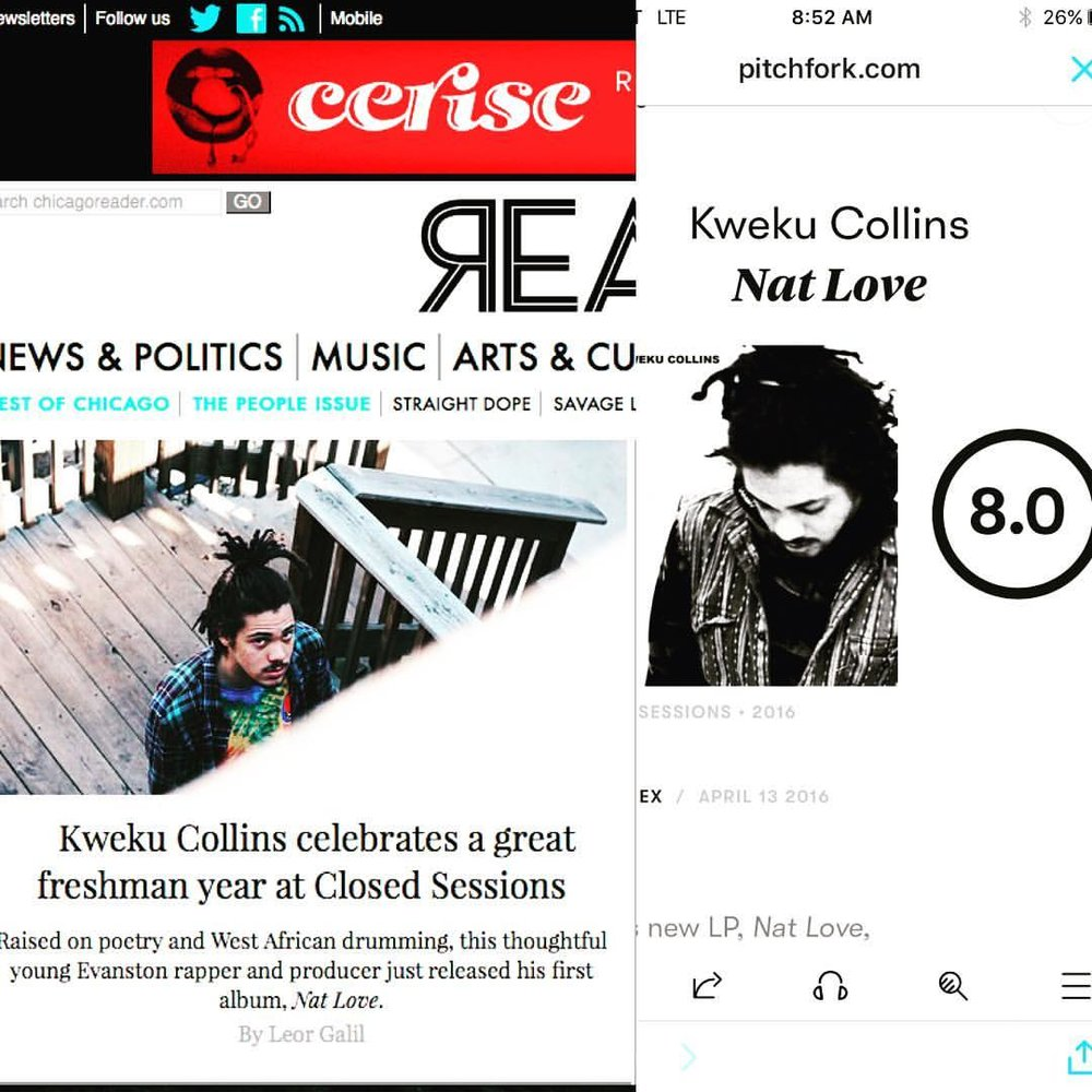 """Great week of Press for @kwekucollins new project """"Nat Love"""""""