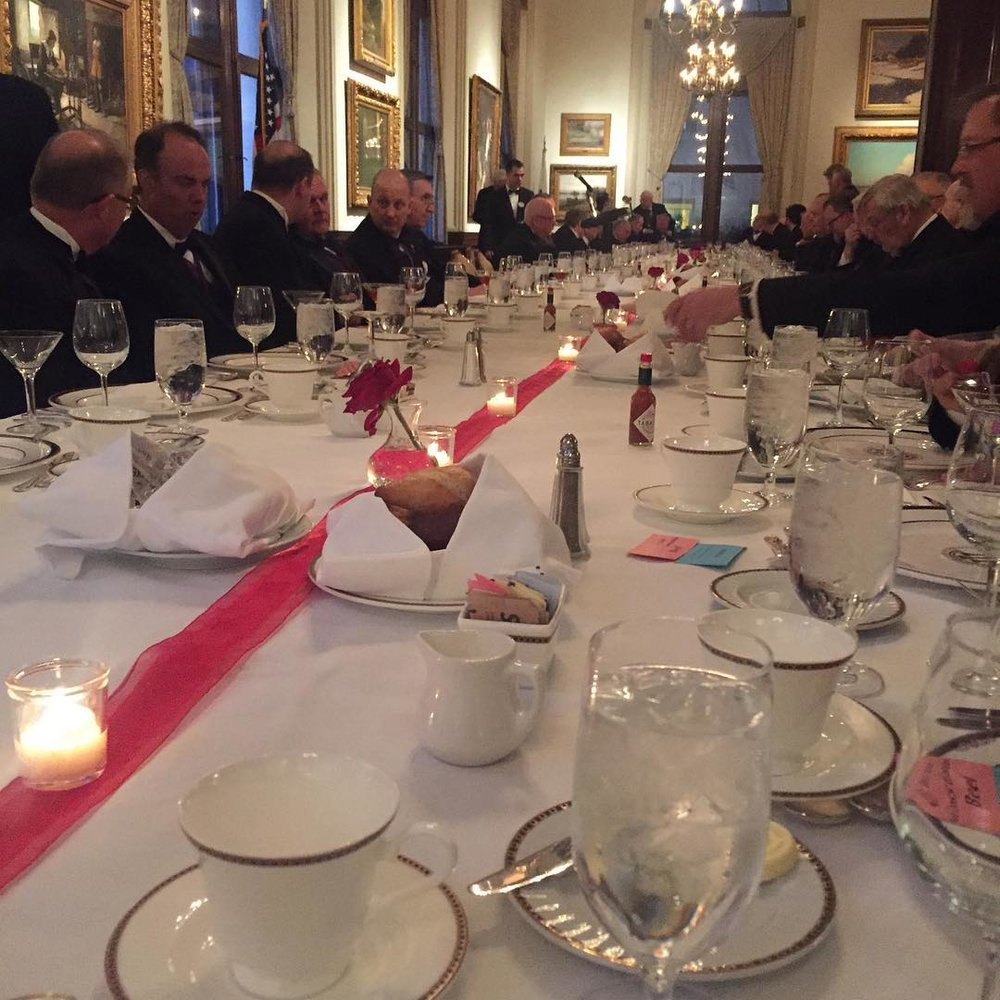 Dinner for 72 (at Union League Club of Chicago)