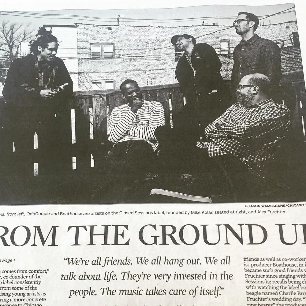 Read all about it in print & online @chicagotribune (at SoundScape Studio)