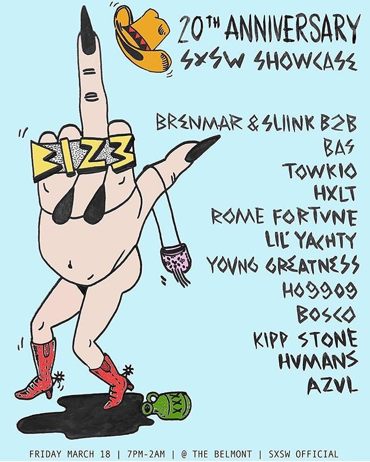 If you @ Sxsw, come grab a drink with me hear & see my guys @kipp_stone & @hxltmusic (at The Belmont)