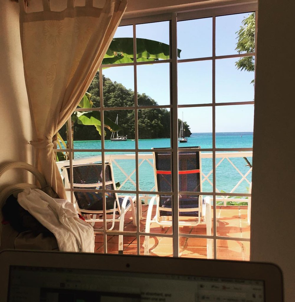 Office view for the day (at Marigot Bay, Castries, Saint Lucia)