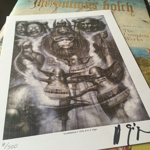 This signed H.R. Giger is one of my favorite pieces, he will be missed