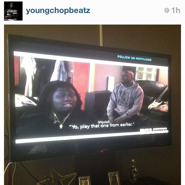 Regram from my Youngest Chop session with Wyclef Jean