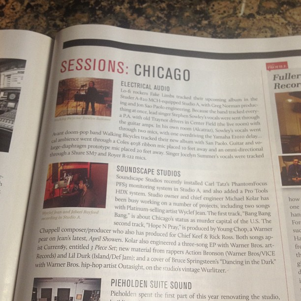 Check us out in Mix Magazine, @ news stands now