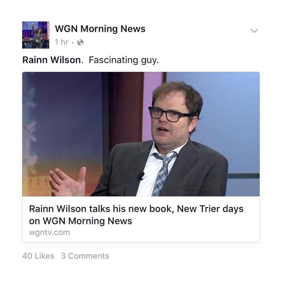 Rainn Wilson on WGN Morning News