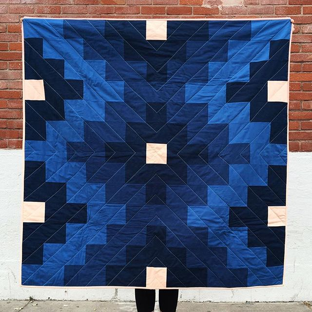 "Win this gorgeous quilt by @vacilandoquilting - one of three prizes available through the @ouropenroad Artistry giveaway linked in our profile ⬆️. This ""Lone Rock"" quilt measures 52"" x 52."" @vacilandoquilting Laura Sands hand-quilts in her Airstream trailer and is ""constantly inspired by the colors, landscapes, and cultures"" she's experienced. Enter to win through Friday! 