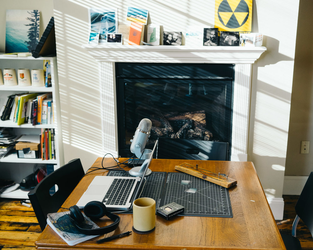 this isn't really what my podcast studio looks like but it's a nice idea