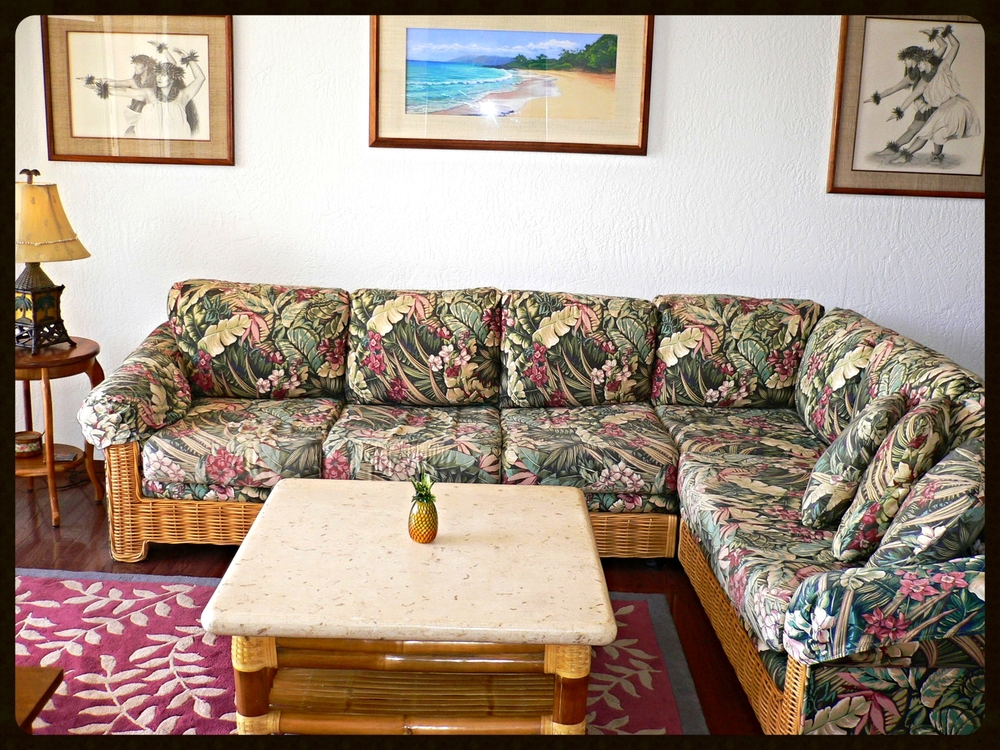 Living Room, Hawaiian Theme