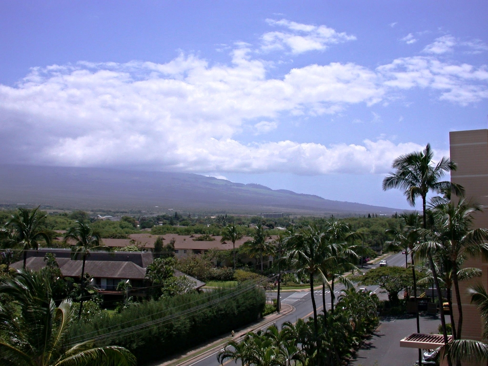 Lanai view left towards South Kihei Rd. & Haleakalā Volcano