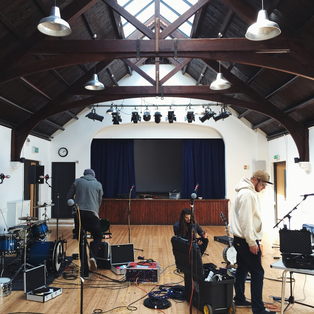 Photo from rehearsal with Coco & the Butterfields a few weeks ago