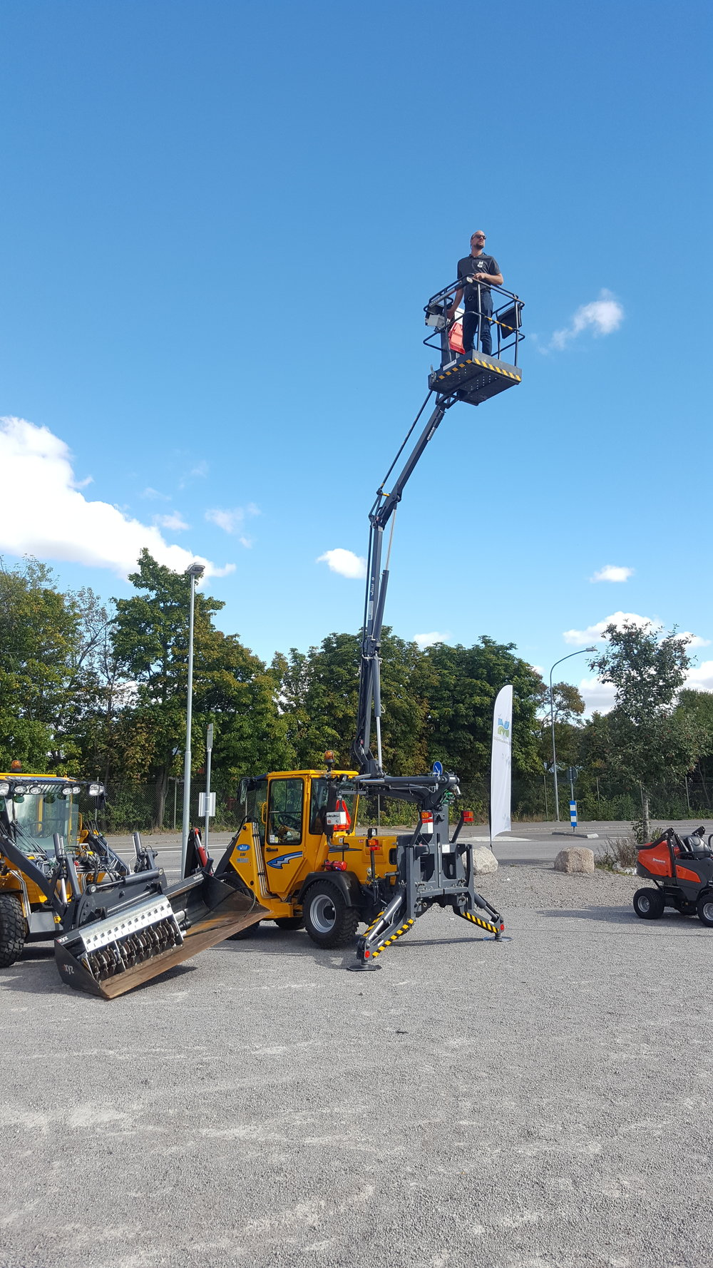 Wille Skylift 9 på mässa i Norrköping.