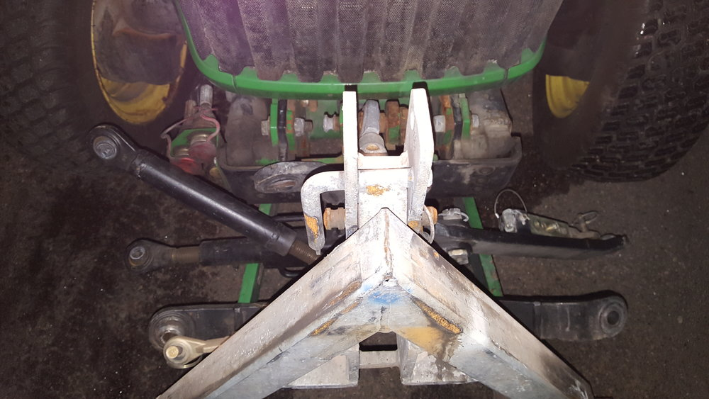 Hydrauluttag fram John Deere traktor