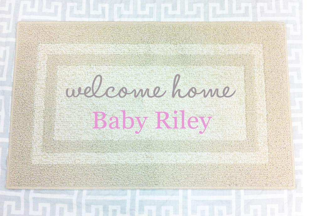 Welcome Home Personalized Baby Gift // Decorative Doormat, Door Mat, Area  Rug, Itu0027s A Girl, Itu0027s A Boy