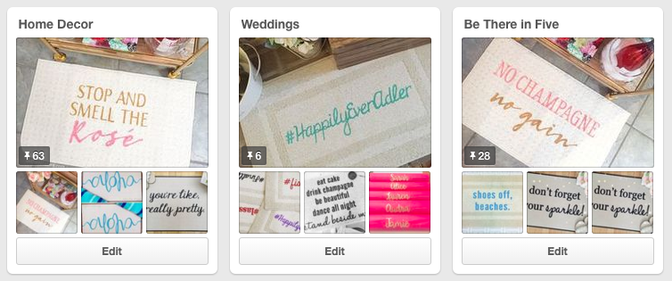 Need to do some work on my wedding Pinterest boards.