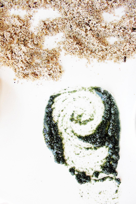Green Coconut Beach Sand Scrub || The Free Spirited