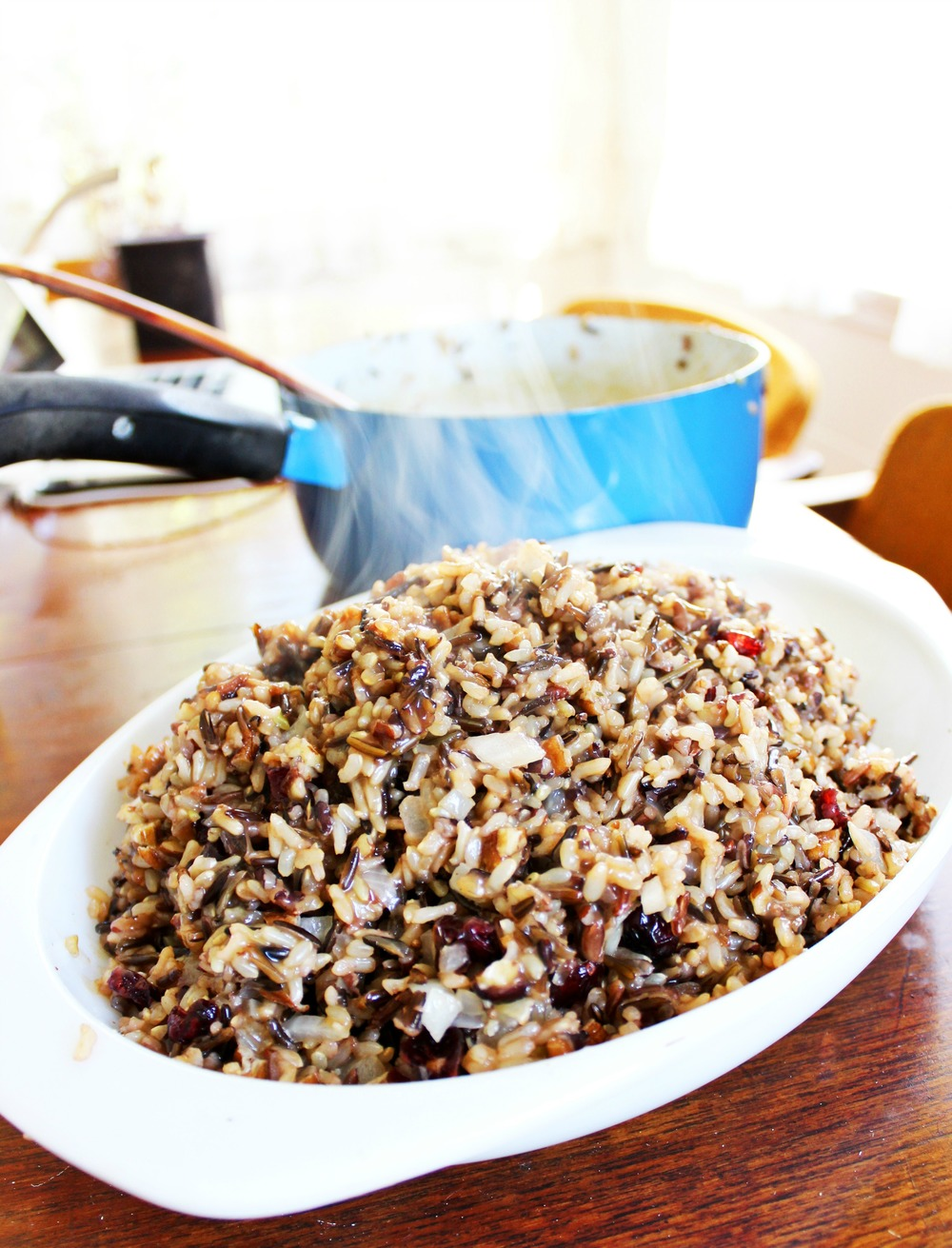Toasted Pecan and Cranberry Wild Rice Pilaf || The Free Spirited
