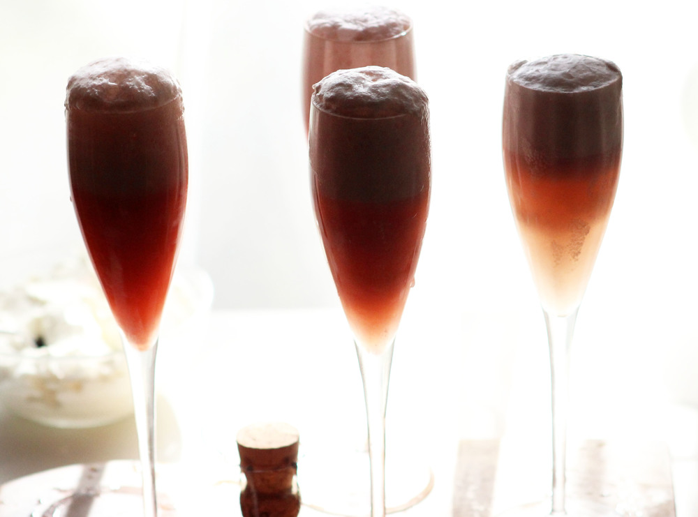Raspberry Cream Bellini