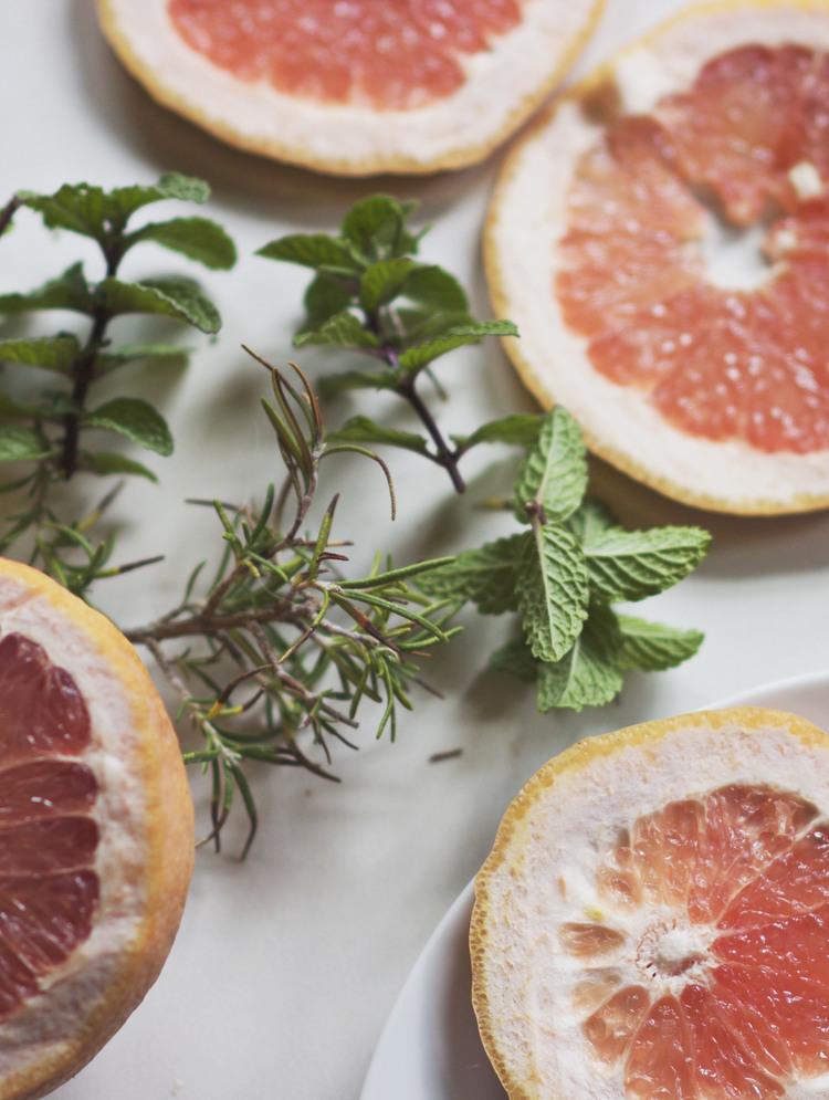 Grapefruit Rosemary Clarifying Hair Rinse