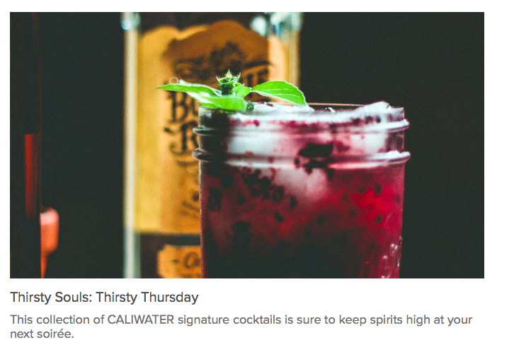CaliWater Blog, January 2016