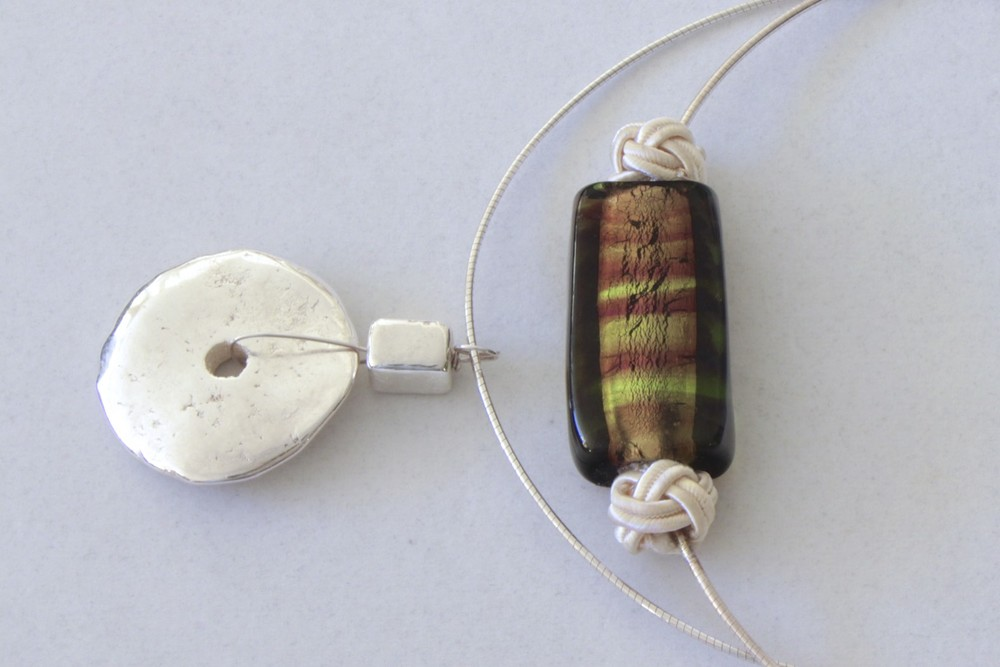 Pendant on Italian Sterling Wire