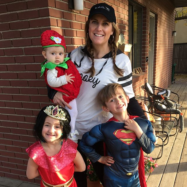 Happy Halloween from Andrea, Superman, Princess Elena and a strawberry.