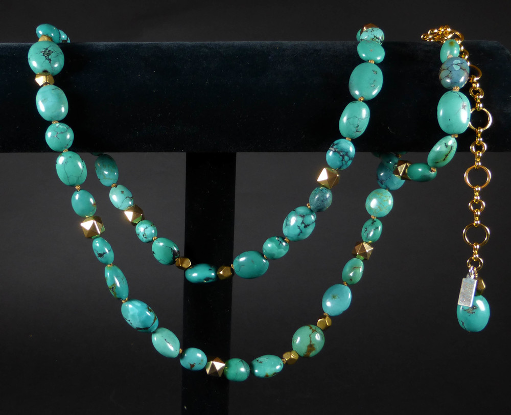Spanish Queen Single Strand Turquoise Belt/Necklace