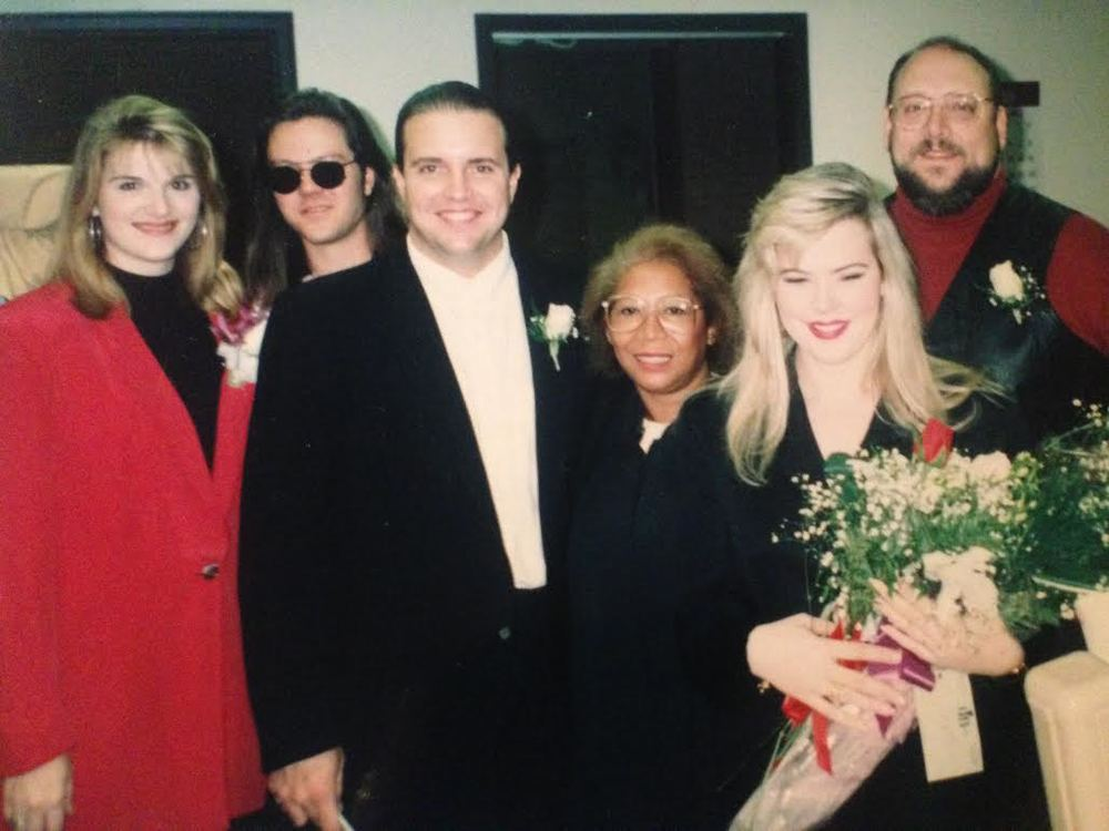 Raul Malo and Betty Malo wedding ceremony held in Chicago. Trisha Yearwood - MOH & Frank Callari - Best Man | Betty Badd Couture