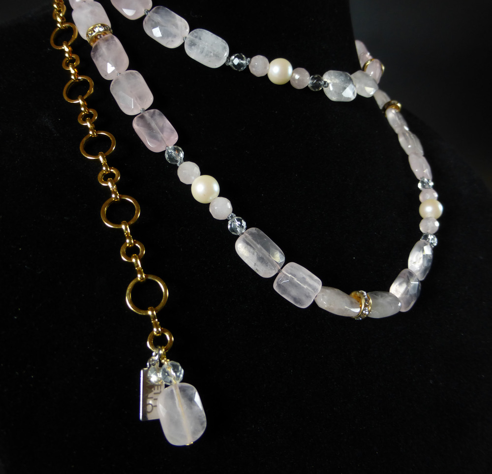 Rose Quartz Necklace from Betty Badd Couture