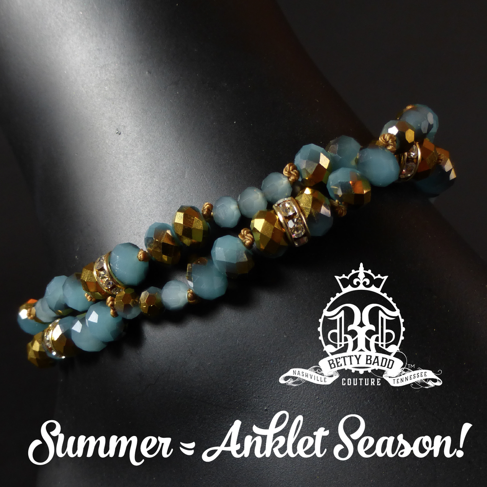 Beautiful summer anklets at BettyBadd.com!