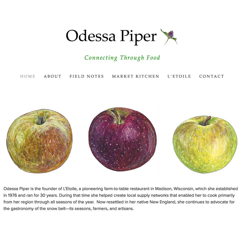 Web Design Client: Odessa Piper, Culinary Consultant