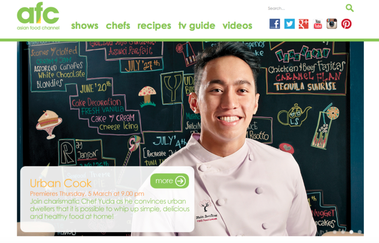 Yuda bustara urban cook airing in asian food channel for 13 countries forumfinder Image collections