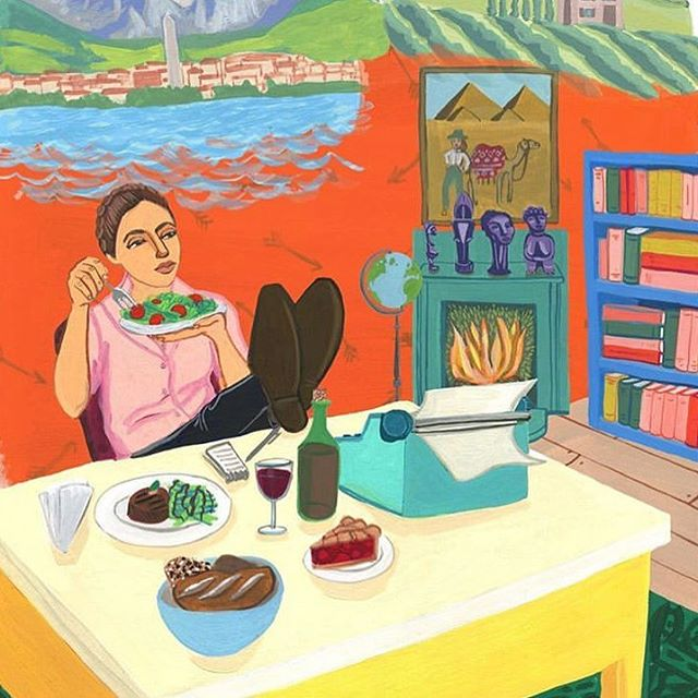 I feel like it's one of those days, where all I want to do is kick back and relax, and think about how good the food I'm eating is. Just like MFK Fisher but instead of 🥗, I'm having🍜 ..... Happy publishing day for A Woman's Place! @slferrari @deepiahluwalia @inguerreiro @foreverbeard @littlebrown it was so much fun making this book with you.