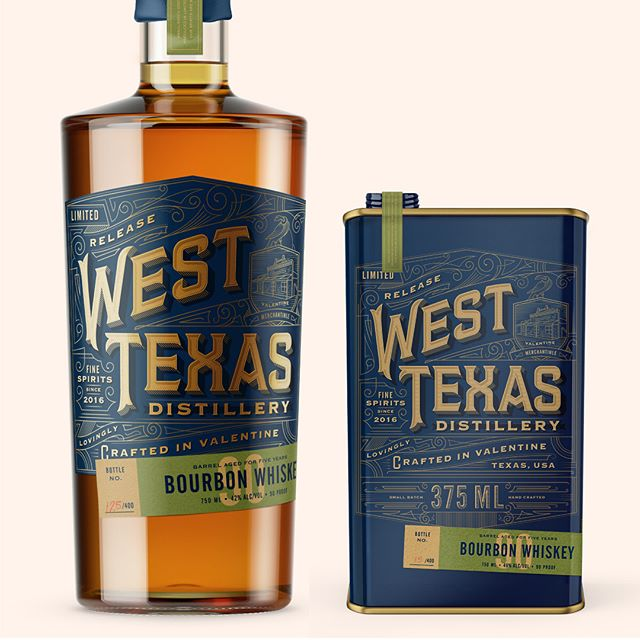 Throwback... Monday? Packaging and branding design for West Texas Distillery located in Valentine, TX. Circa 2016. Offered in the bottled 750ml and the smaller 375ml tin can. It's always refreshing to explore styles outside of your norm, especially when it's a good fit for the project. Designed @stoutsf
