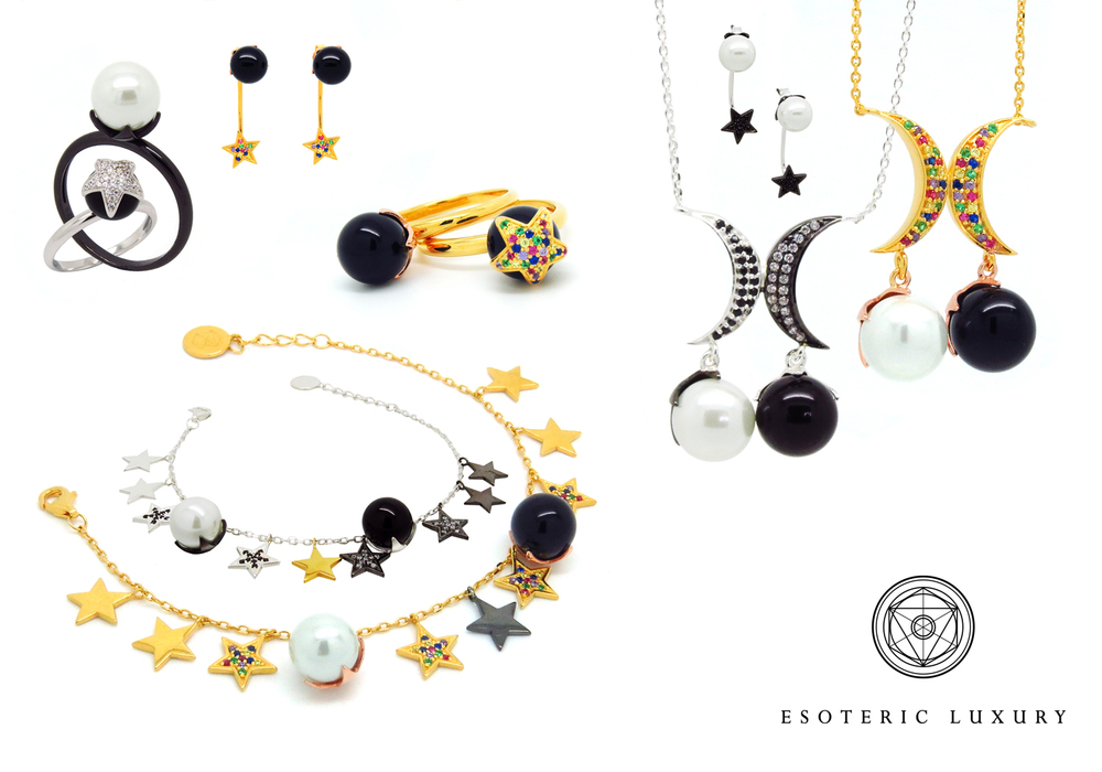 Luna Estrella Collection in Sterling Silver and Gold Vermeil.