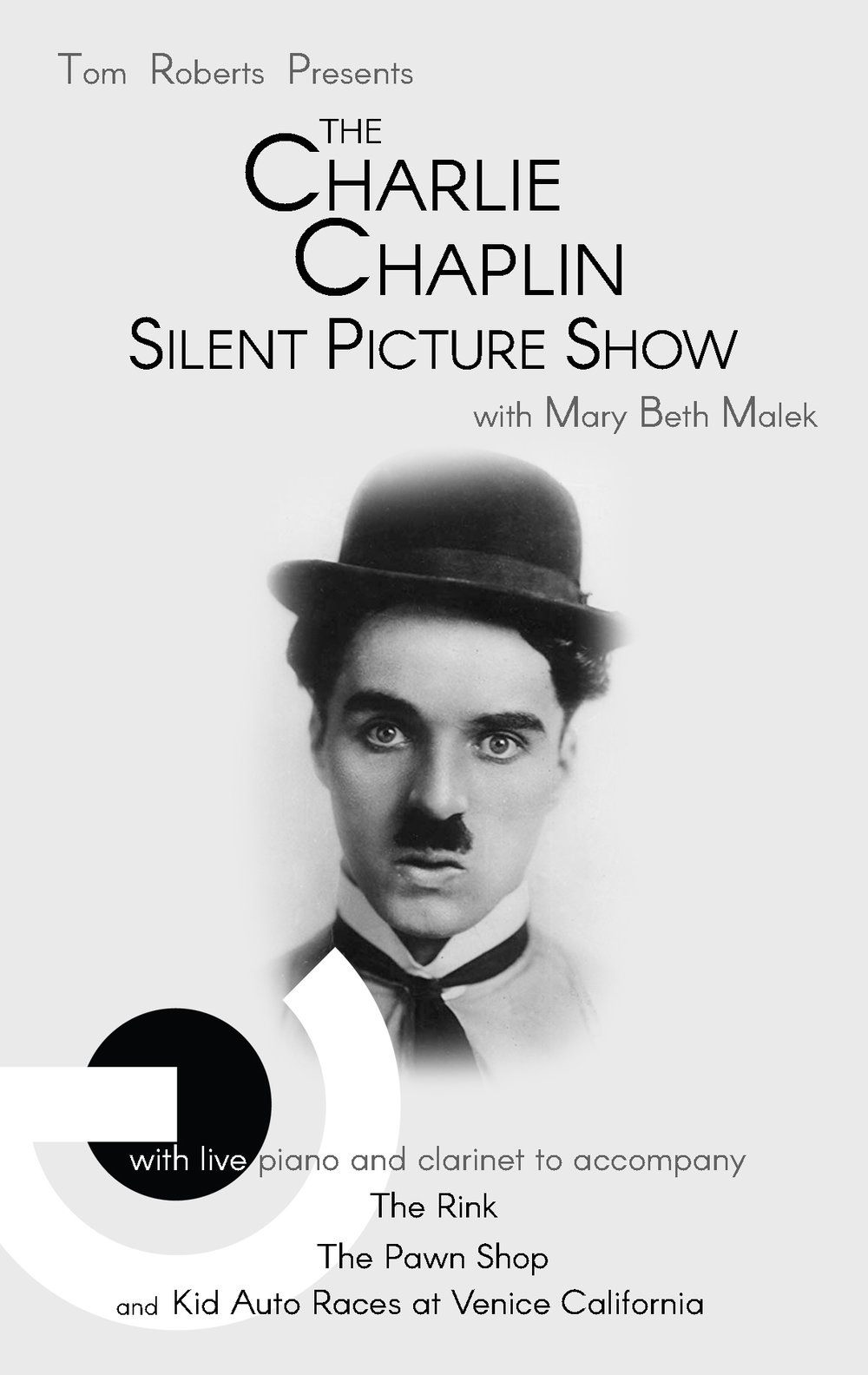 The Charlie Chaplin Silent Picture Show with Tom Roberts and Mary Beth Malek