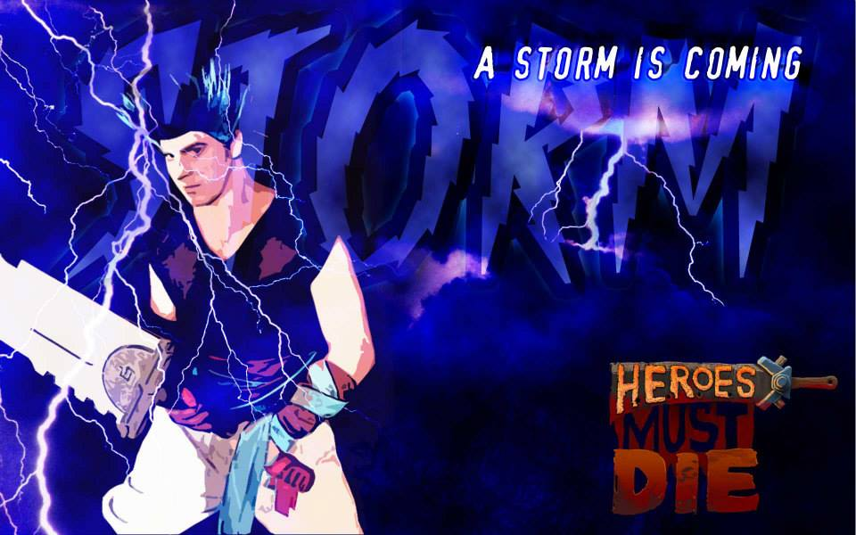 Justin Bankston as Storm in a promo for the show workshop. Ad by Joseph Travis Urick.