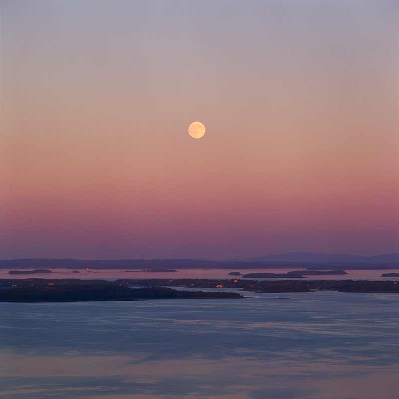 """Moonrise, Penobscot Bay"""