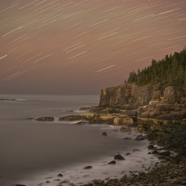 Nightfall, Otter Cliffs, Acadia National Park