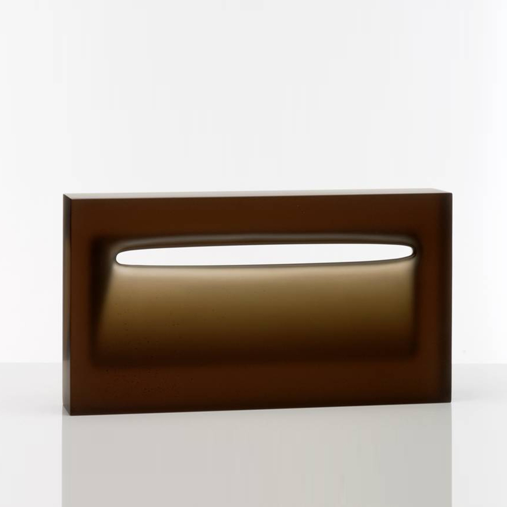 Richard Whiteley,  SOLD Envelop , 2010, cast glass, H 30 x W 60 x D 11.5 cm