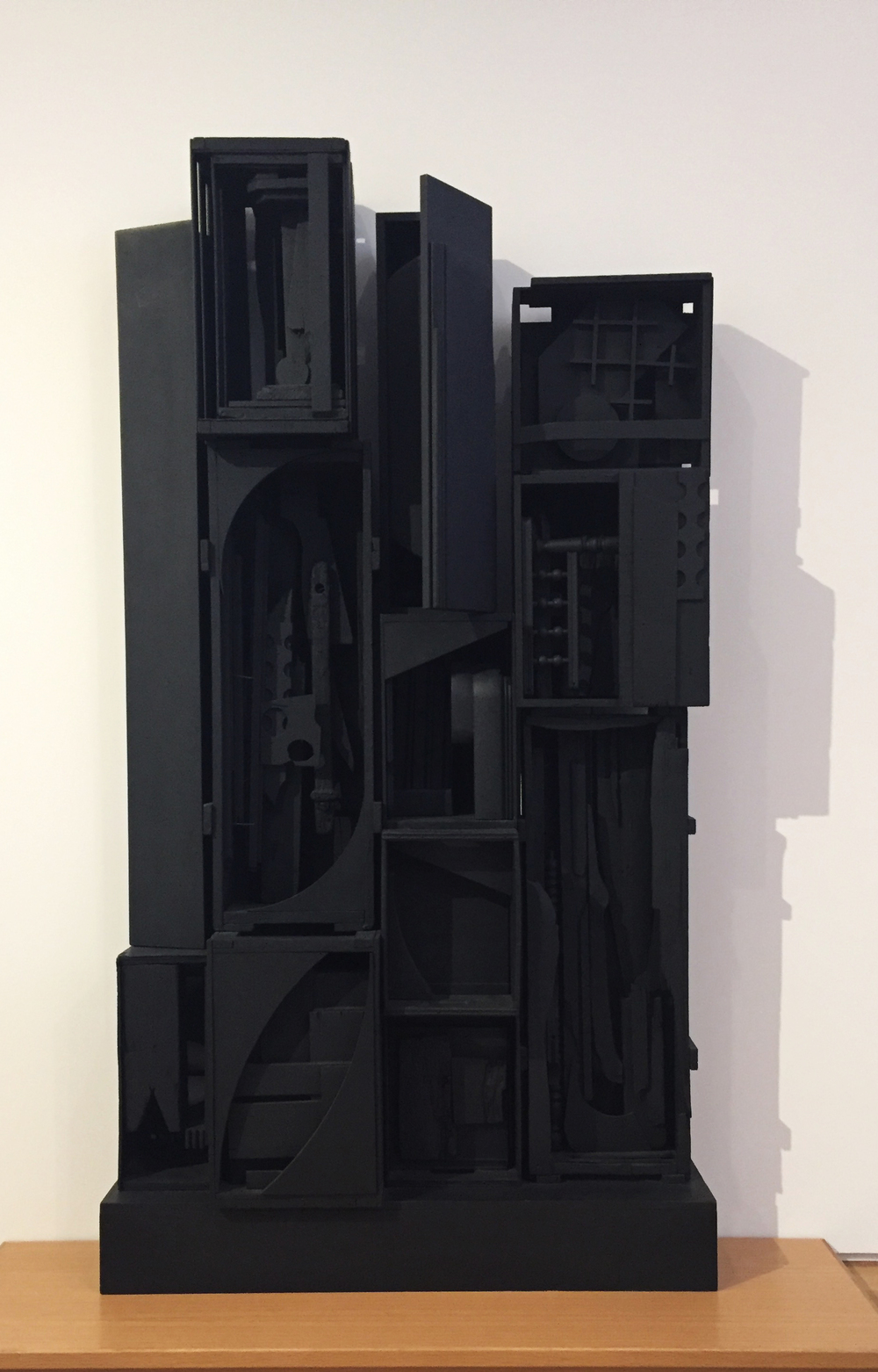 "Whenever I see Louise Nevelson's work, I think, ""black magic."" Every single magnificent time. Louise Nevelson (American, 1899-1988)  Sky Garden (1959-1964)  enamel on wood."