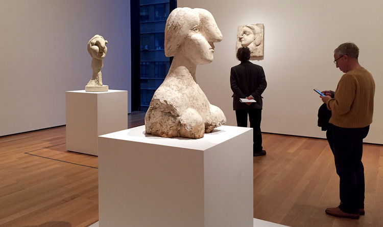 Picasso's Bust of a Woman. Photographer: Katya Kazakina/Bloomberg
